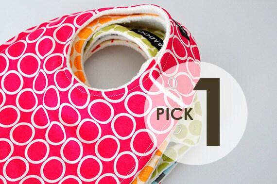 Design Your Own Baby Bib, Modern Baby Bib Backed with Organic Cotton Sherpa