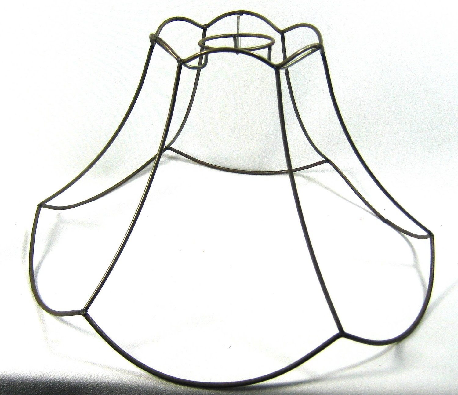 Lamp Shade Frame Round Scallop Pendant Wire Hand Made Nyc