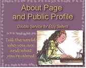 About Page and Public Profile Bundle - Personalized, Powerful Web Presence