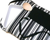 Casserole Cover Carrier Insulated Black White Gray Stripe READY TO SHIP