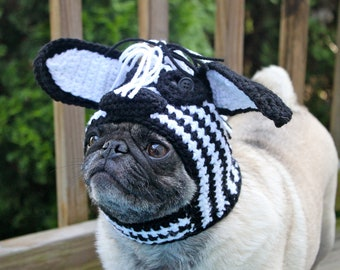Zazzy Zebra Dog Hat / Made To Order