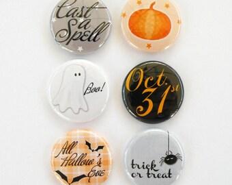 Halloween - Set of 6 Flair Buttons