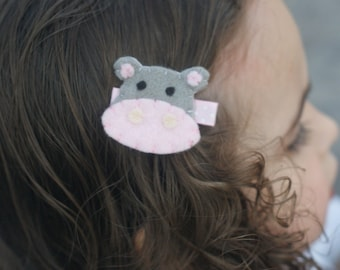 Adorable Hippo Hair Clip - Meet Miss Heidi
