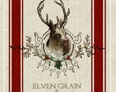 Reindeer Feedsack Digital Collage