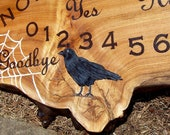 Ouija Board Custom Listing For Crybaby2025 Crow Raven Spiderwebs Pentagram With Planchette