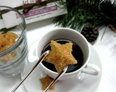 Star Shaped Turbinado Sugar Cubes to Serve with Coffee or Tea 3 Dozen