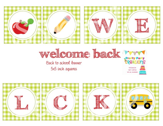 WELCOME BACK school banner YOU Print teacher resources