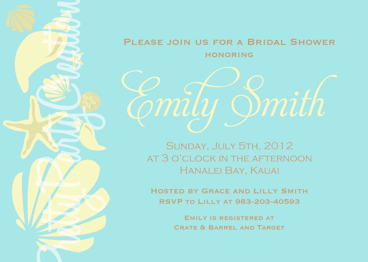 Bridal Shower Invitations Wording with great invitations example