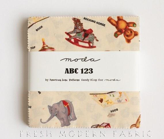 ABC 123 Charm Pack, American Jane, Moda Fabrics