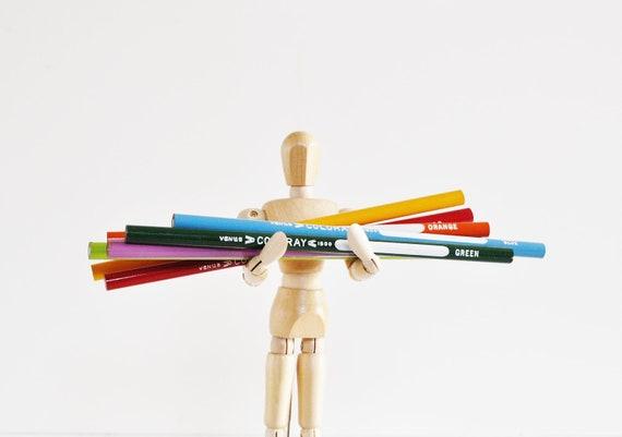 Vintage Colored Pencils - Back to School Supplies
