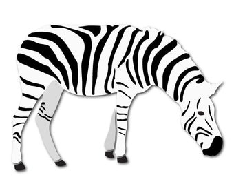 Zebra Stencil for Painting Kids or Baby Room Wall Mural (SKU153-istencil)