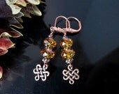Copper and Topaz Swarovski Crystal Earrings