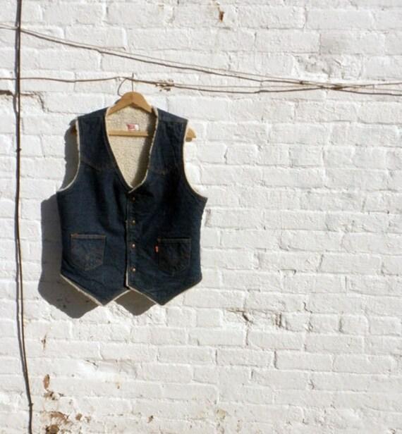 LEVIS ranching denim vest 1980s