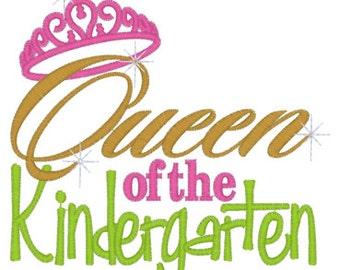 Queen of the Kindergarten Tee Sizes 2 4 6 8 10