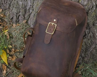 Handmade Leather Daypack