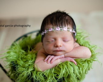Newborn Flower Headband, baby girl, hair accessories, photography prop, rosette, headband