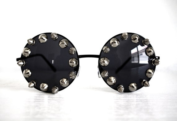 Round Spiked Sunglasses
