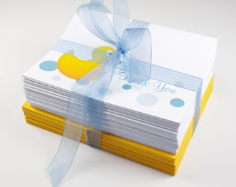 Rubber Duck Thank You Cards - Stack of 10