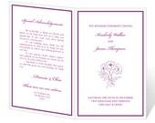 Wedding Program Template Printable - INSTANT DOWNLOAD - Floral