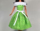 Lime Sherbert - Barbie Dress Handmade Barbie Doll Clothes