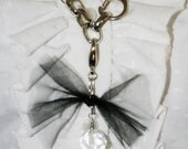 Large glass bead dangle bauble