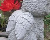 Cast Stone Bichon Frise Dog Angel