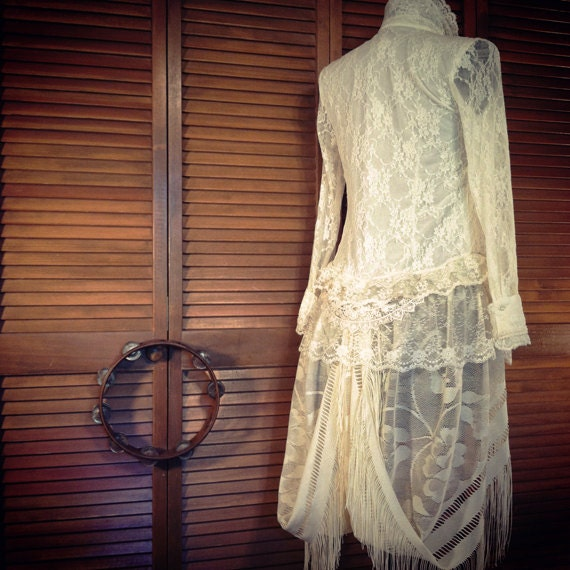 Romantic Duster  - Lace Jacket with Bohemian Styling