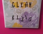 Clean/ Dirty Dishwasher Magnet- Floral (more colors available)
