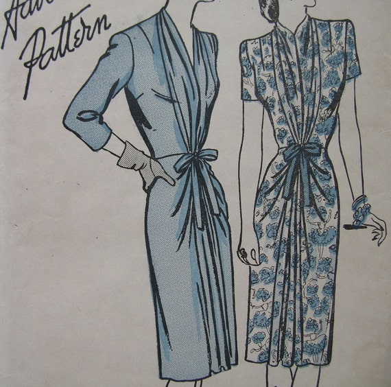 Fabulous 40's Advance Misses Dress Pattern FEATURED IN MADEMOISELLE Factory Folded