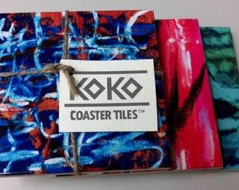 Koko Coaster Tiles 3 pack - Marina