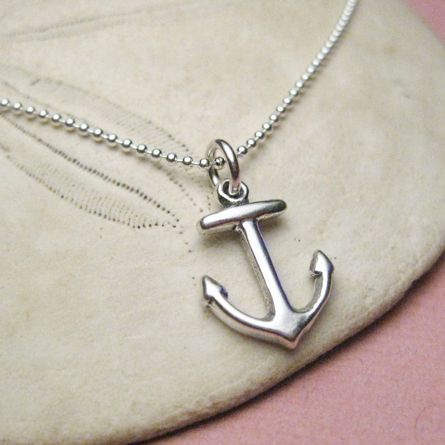 anchor necklace anchor jewelry nautical by wanderingtulip