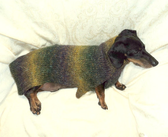 Alpaca blend dachshund sweater jumper warm fuzzy soft knit