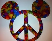 Mickey Mouse Peace Symbol