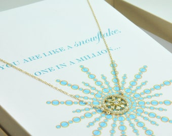 Snowflake Necklace/ Winter Wedding Gift Ideas/Snowflake Necklaces for Brides, Bridesmaids and Wedding Party