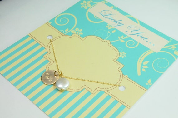 Monogrammed Personalized Gifts for Bridesmaid/ Will you Be My Bridesmaid Gift with Card