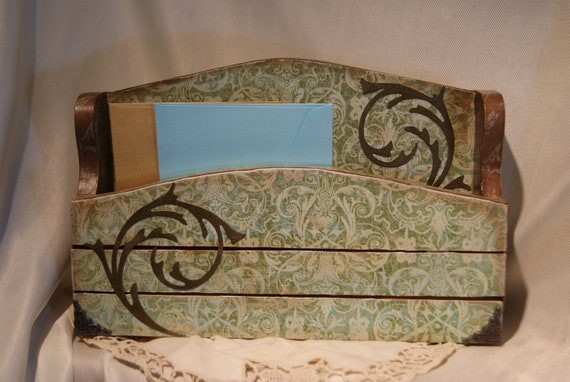 Vintage Style Letter Holder with a Matching Key Hanger