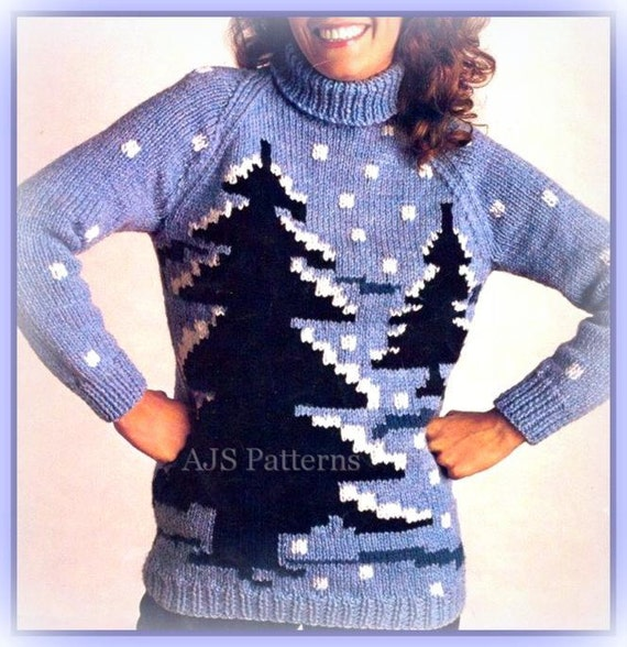 Knitting Patterns For Winter Sweaters : PDF Knitting Pattern for a Chunky Knit Winter by ...