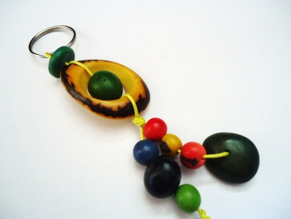 Tagua and Acai Keychain (Seeds from the Rain Forest)