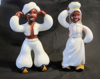 Occupied Japan Hindu / India Couple Porcelain Figurines