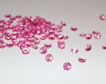100 HOT Pink Confetti Party Diamonds