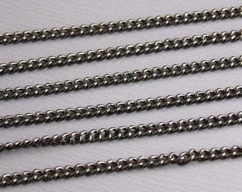CHAIN-GUNMETAL-TW-1.5MMx1MM - 10-Foot Gunmetal Fine Twisted Link Chain