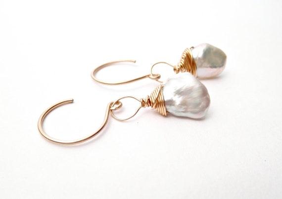 Dainty Keshi Pearl Earrings