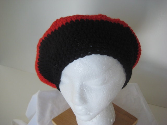 Red Green And Ebony Beret 5191-2834
