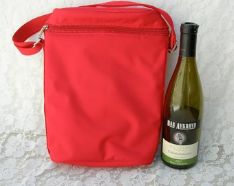 Insulated 2-Bottle Tote Bag, great for picnics, parties or a gift, for large wine/sake/liquor/soda bottles, wedding gift