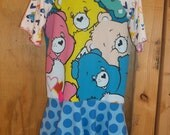 Upcycled Girl Dress/ Care Bear 5/6/RTS/