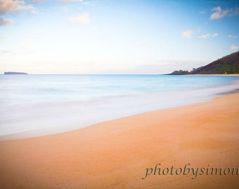 Early morning calm tranquility seascape Maui beach 8x12 fine art photography