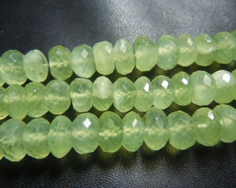 Prehnite  Rondelle Faceted Beads Gemstne  Size- 7MM Approx 3Strands 8 Inches  AAA Quality Wholesale Price