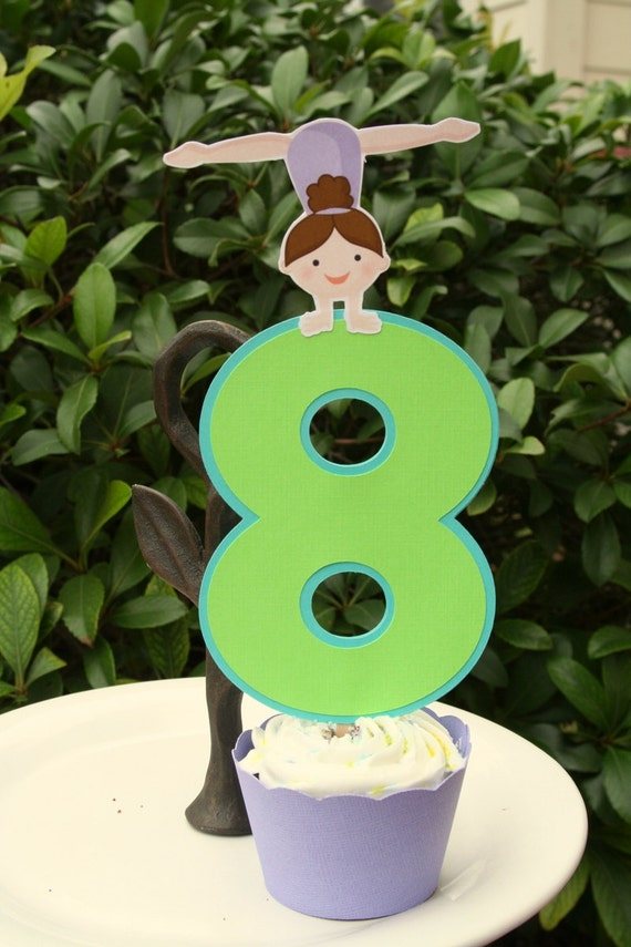 Gymnastics Party Cake Topper by PaperPartyParade on Etsy