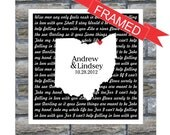 Personalized Wedding Gift Song Lyrics Love Map FRAMED ART Print - Any Location, Any Song - Wedding Gift Anniversary Gift Engagement Gift