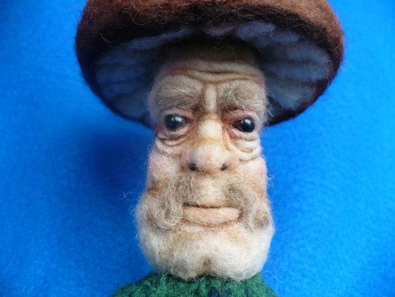 Magic Mushroom, Fairie Toadstool, Pincushion, OOAK